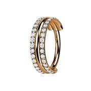 Micro Segmentring klappbar rosegold drei Ringe...
