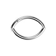 Micro Segmentring silber klappbar Oval