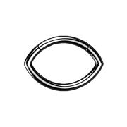 Micro Segmentring schwarz klappbar Oval