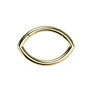 Micro Segmentring vergoldet klappbar Oval
