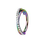 Micro Segmentring klappbar farbig gekreuzt seitlich...