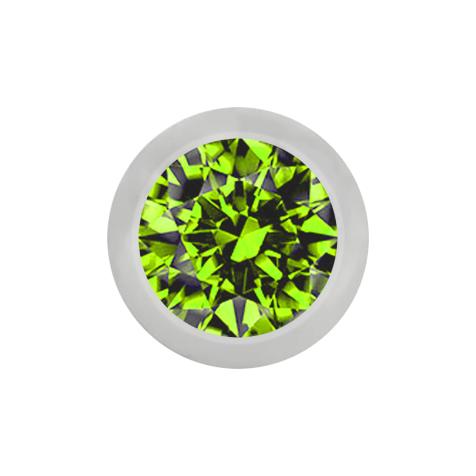 Kugel silber mit Kristall hellgrün