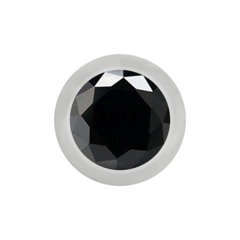 Kugel silber mit Kristall schwarz