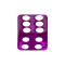 Würfel violett transparent