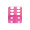 Würfel pink transparent