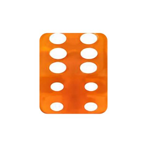 Würfel orange transparent