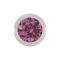 Ball Closure Kugel silber mit Kristall pink