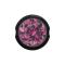 Ball Closure Kugel schwarz mit Kristall pink