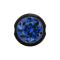 Ball Closure Kugel schwarz mit Kristall dunkelblau
