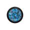 Kugel schwarz mit Kristall hellblau