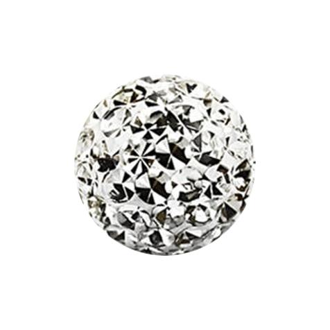 Kristall Kugel silber mit Epoxy Schutzschicht