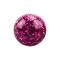Kristall Kugel fuchsia mit Epoxy Schutzschicht
