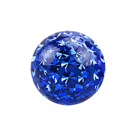 Kristall Kugel dunkelblau Epoxy Schutzschicht
