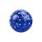 Kristall Kugel dunkelblau mit Epoxy Schutzschicht