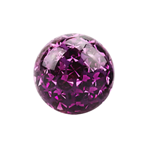 Kristall Kugel violett mit Epoxy Schutzschicht