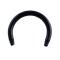 Circular Barbell-Stab schwarz