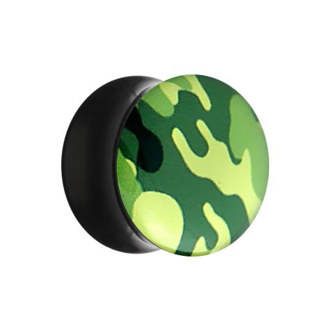 Flared Plug mit Tarnung Military grün