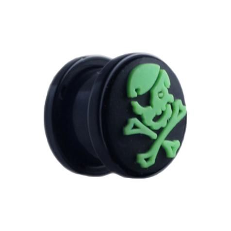 Plug mit grünem Totenkopf
