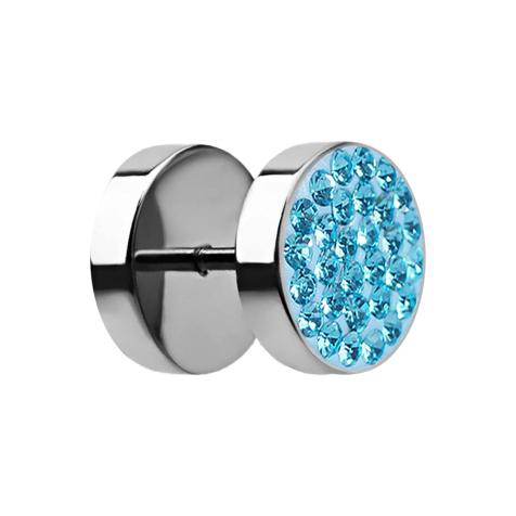 Fake Plug mit Kristall aqua