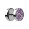 Fake Plug mit Kristall violett