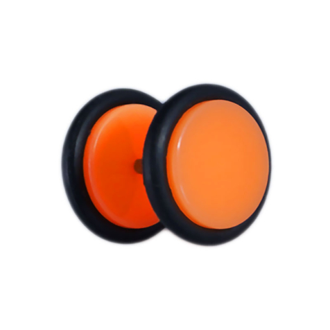 Fake Plug orange mit O-Ring