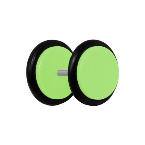 Fake Plug hellgrün mit O-Ring