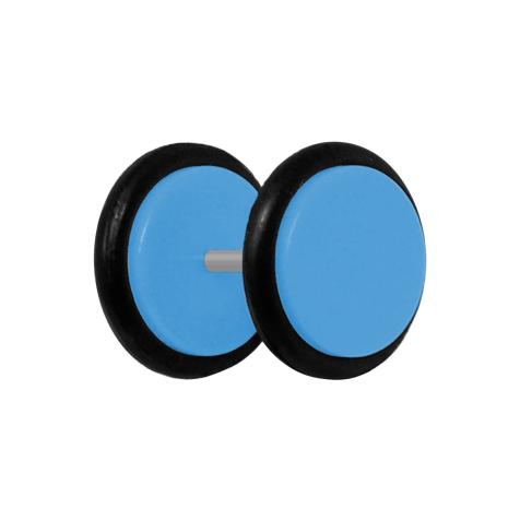 Fake Plug hellblau mit O-Ring