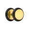 Fake Plug vergoldet mit O-Ring