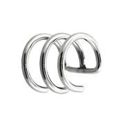 Fake Ear Cuff silber mit 3 Ringen