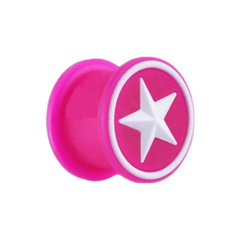 Plug pink mit weissem Stern