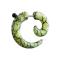 Fake Spirale mit Marmormuster grün