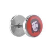 Fake Plug silber mit Che Guevara