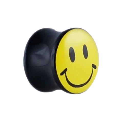 Flared Plug mit Smiley