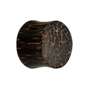 Flared Plug aus Kokosnussholz