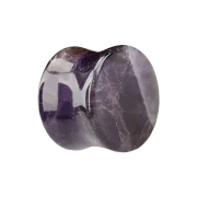 Flared Plug aus Amethyst Stein