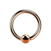 Ball Closure Ring rosegold